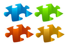 Puzzle pieces. Jigsaw puzzle pieces, vector background Stock Photos