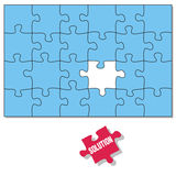 Puzzle pieces. The Solution piece is missing Stock Photos