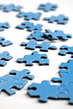 Puzzle pieces. Jigsaw puzzle pieces business concept for strategy and organisation Stock Photo