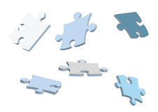 Puzzle pieces. 3d vector puzzle pieces for design Royalty Free Stock Image