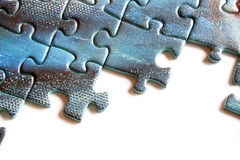 Puzzle pieces. On a white background Stock Images