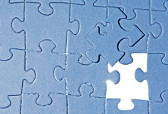 Puzzle pieces. Puzzle with missing puzzle piece Stock Image