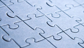 Puzzle pieces. With shallow dof Royalty Free Stock Photo