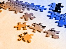 Puzzle pieces. Jigsaw puzzle pieces Royalty Free Stock Photo