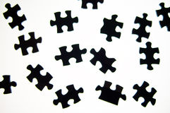 Puzzle pieces. Separated in isolated background Royalty Free Stock Photography