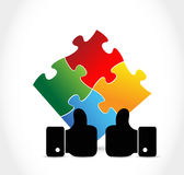 Puzzle pieces agreement concept Royalty Free Stock Photos