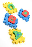 Puzzle pieces of alphabets Stock Image