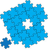 Puzzle pieces assembly Royalty Free Stock Photography