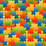 Puzzle pieces background colored - endless Stock Images