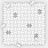 Puzzle Pieces Background Completing Picture Board Game Filling H. Puzzle pieces background with holes missing trying to fill the empty spaces in playing game Royalty Free Stock Images