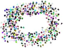 Puzzle pieces background. Image representing a background made with colorful puzzle pieces Royalty Free Stock Photo