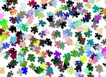 Colorful Puzzle pieces background. Image representing a background made with colorful puzzle pieces Stock Images