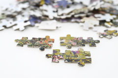 Puzzle pieces background Stock Photos