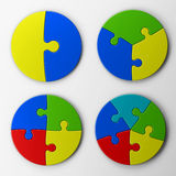 Puzzle pieces with clipping path Stock Photos