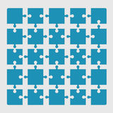 Puzzle pieces collection Royalty Free Stock Images