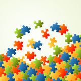 Puzzle pieces colorful background. Background with puzzle pieces in four colors royalty free illustration