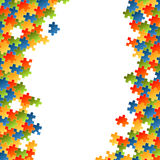 Puzzle pieces colorful background Royalty Free Stock Image