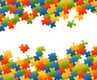 Puzzle pieces colorful background Royalty Free Stock Photography
