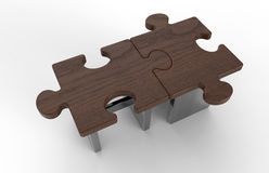 Puzzle pieces concept Royalty Free Stock Images