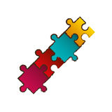Puzzle pieces connection image Stock Photography