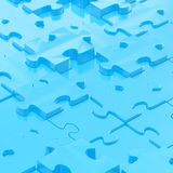 Puzzle pieces covered surface Royalty Free Stock Photos