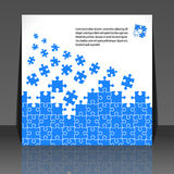 Puzzle pieces design flyer design Stock Images