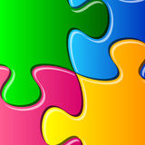 Puzzle pieces detail Royalty Free Stock Photography