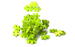 Puzzle pieces falling Stock Photography