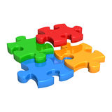 Puzzle Pieces Falling into Place Royalty Free Stock Photo