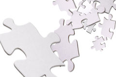 Puzzle pieces floating Stock Image