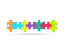 Puzzle Pieces. Illustration of colorful puzzle pieces  on a white background Royalty Free Stock Photography