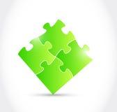 Puzzle pieces illustration design Stock Photography