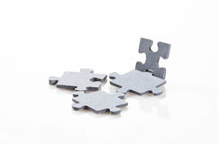 Puzzle pieces isolated on white background Royalty Free Stock Images