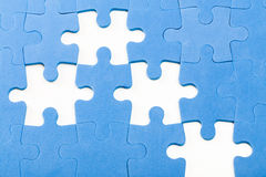 Puzzle pieces. Missing jigsaw, colorful puzzle pieces stock images