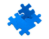Puzzle pieces. Missing jigsaw, colorful puzzle pieces stock image
