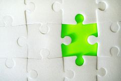 Puzzle pieces put together. royalty free stock photos