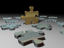 Puzzle pieces solution Stock Photography