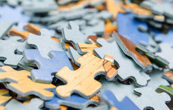 Puzzle pieces. Some puzzle pieces of paper Royalty Free Stock Image