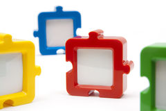 Puzzle Pieces Spread Royalty Free Stock Images