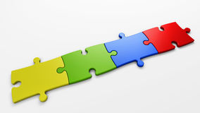 Puzzle pieces to place concepts Stock Photos