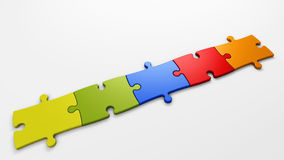 Puzzle pieces to place concepts Royalty Free Stock Photo