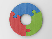 Puzzle pieces to place your concepts with clipping path Stock Photos