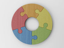Puzzle pieces to place your concepts Stock Images