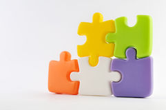 Puzzle pieces together Royalty Free Stock Photography