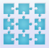 Puzzle pieces vector. This image is a vector illustration and can be scaled to any size without loss of resolution. Parts of paper puzzles. Business concept Stock Photos