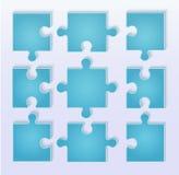 Puzzle pieces vector Stock Photos