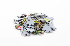 Puzzle pieces on white background Royalty Free Stock Photo