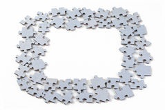 Puzzle pieces on white background Royalty Free Stock Images