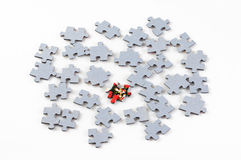 Puzzle pieces on white background Stock Photography