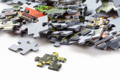 Puzzle pieces on white background Stock Image